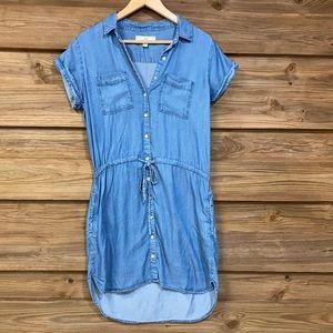 Anthro- Thread & Supply Chambray Dress